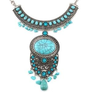 Necklace - Bohemian Princess Blue